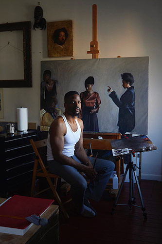 Artist Jas Knight in his New York studio. Photo by Jessica Pester