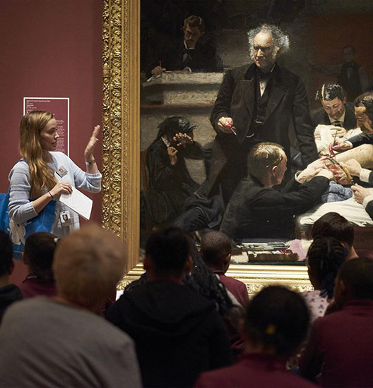 A talk about Thomas Eakins's Gross Clinic in the American Art galleries