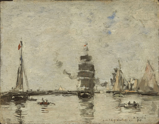 Boats in Trouville Harbor