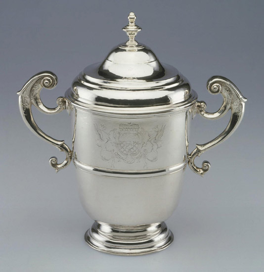 Two-Handled Cup with Lid