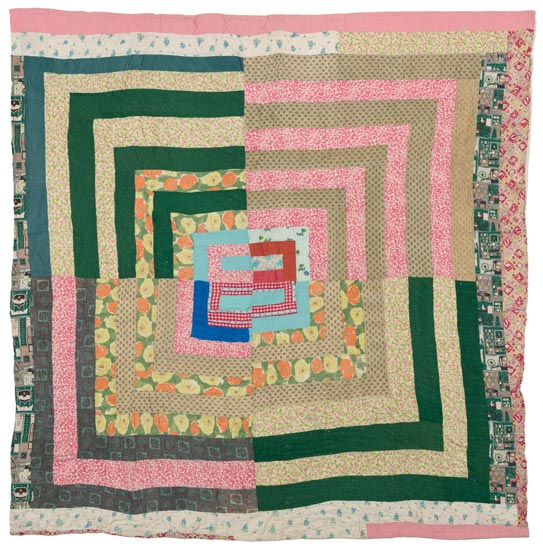 Housetop: Fractured-Medallion Variation Quilt