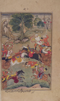 Karna Slays the Kaikeya Prince Vishoka