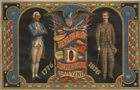 �Centennial Souvenir� trade card