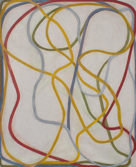 Skull with Thought, 1993�1995, by Brice Marden