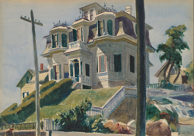 Haskell�s House, 1924, by Edward Hopper