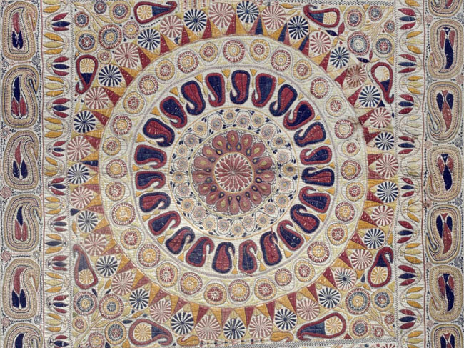 Kantha (Embroidered Quilt), Late 19th century