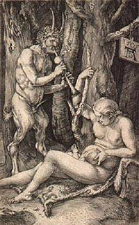 Musical Satyr and Nymph with Baby (Satyr's Family)