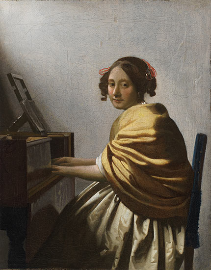 Young Woman Seated at a Virginal