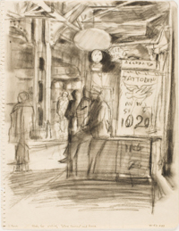 Tattoo-Shave-Haircut (study for the etching)