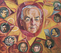 A Critic and his Artist Friends (Portrait of Christian Brinton and Nine Artists)