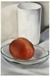 Peach and Glass