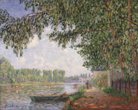 Sunlight on the Banks of the Loing River, Moret