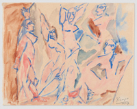 Five Nudes (Study for
