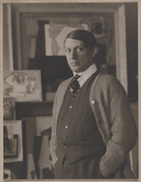 Picasso in His Studio on the rue de La Boëtie, Paris
