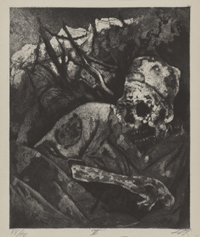 Corpse in Barbed Wire, Flanders