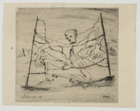 Corpse in Barbed Wire (Scene from the Spanish Civil War)