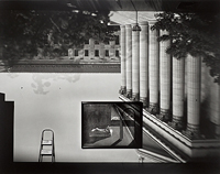 Camera Obscura Image of the Philadelphia Museum of Art, East Entrance in Gallery with a de Chirico Painting