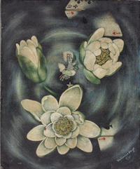 Dream Painting (Playing Cards and Lotus Blossoms)