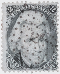Andrew Jackson stamp with fancy cancel