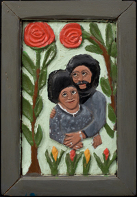 Couple with Roses
