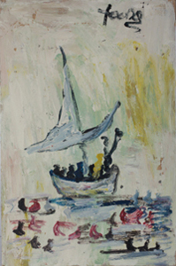 Ship and Floating Figures