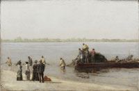 Shad Fishing at Gloucester on the Delaware River