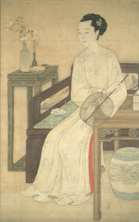 Seated Lady Holding a Fan