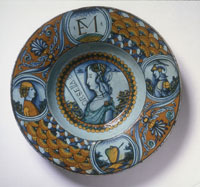 Dish with a Portrait of Orsella
