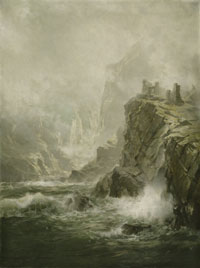 The Ruins of Fast Castle, Berwickshire, Scotland: The Wolf's Crag of the Bride of Lammermoor