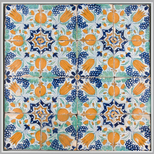Tile Panel: Star Tulips