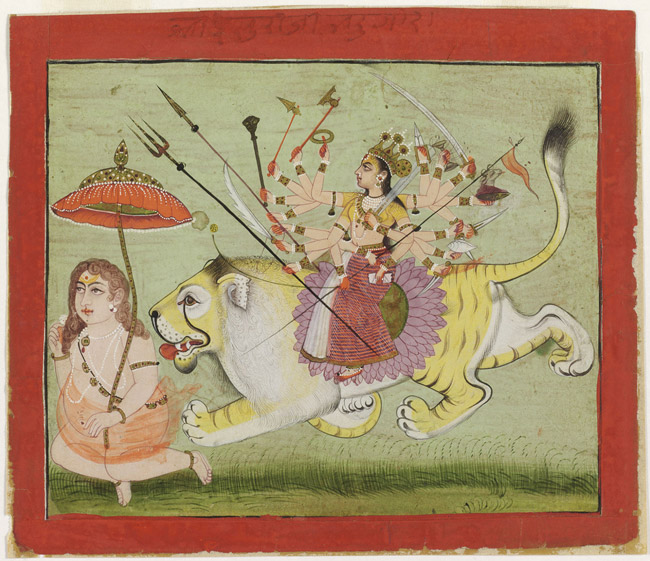 The Great Goddess as Ishwari, with Bhadragaura