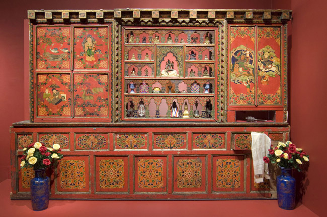 Tibetan Altar with Domestic Motifs