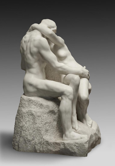 "Copy of Rodin's ""The Kiss"""