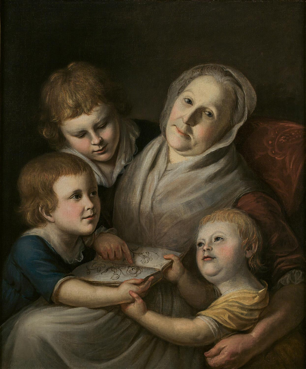 Mrs. Charles Peale and her Grandchildren, Raphaelle, Angelica & Rembrandt