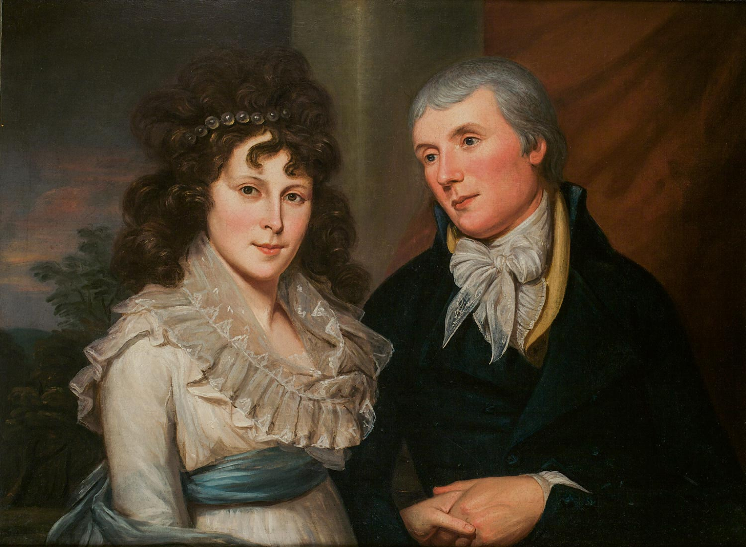 Portrait of Alexander and Angelica Kauffmann Peale Robinson
