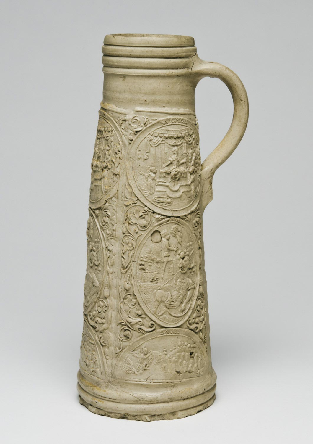 Tankard with the Judgment of Solomon, David with the Head of Goliath, and Daniel in the Lion's Den