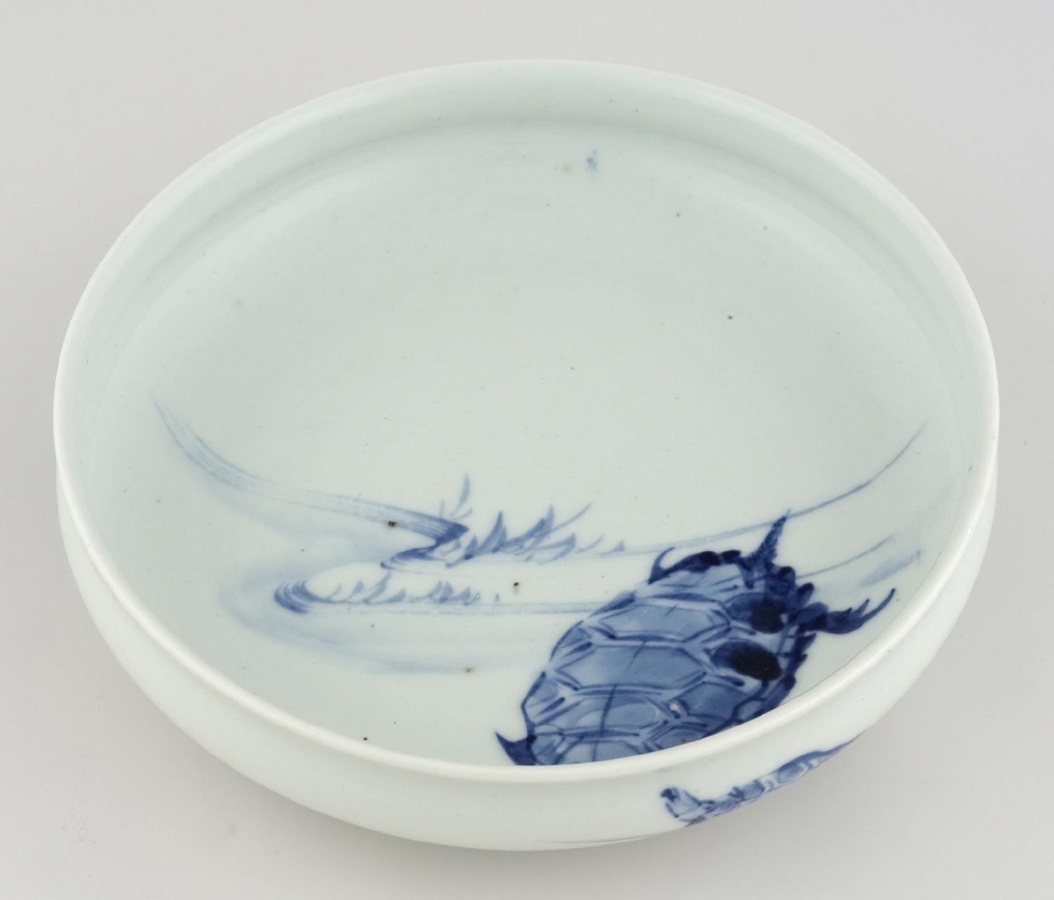 Dish with Design of Turtles