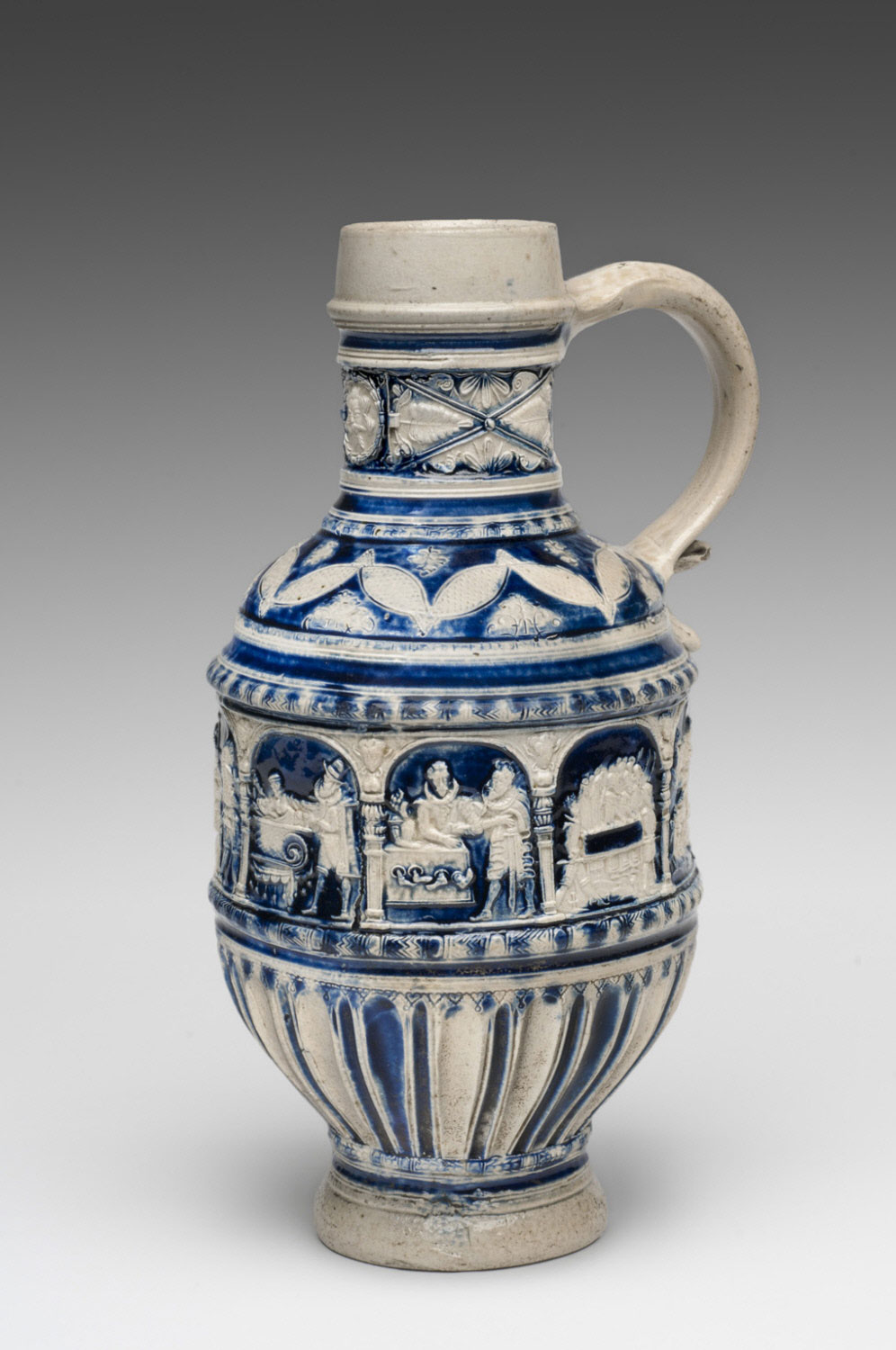 Jug with the Seven Corporal Works of Mercy and the Last Judgment