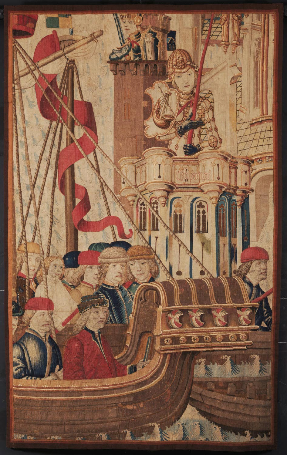 Fragment of a Tapestry showing an Allegory of Hope