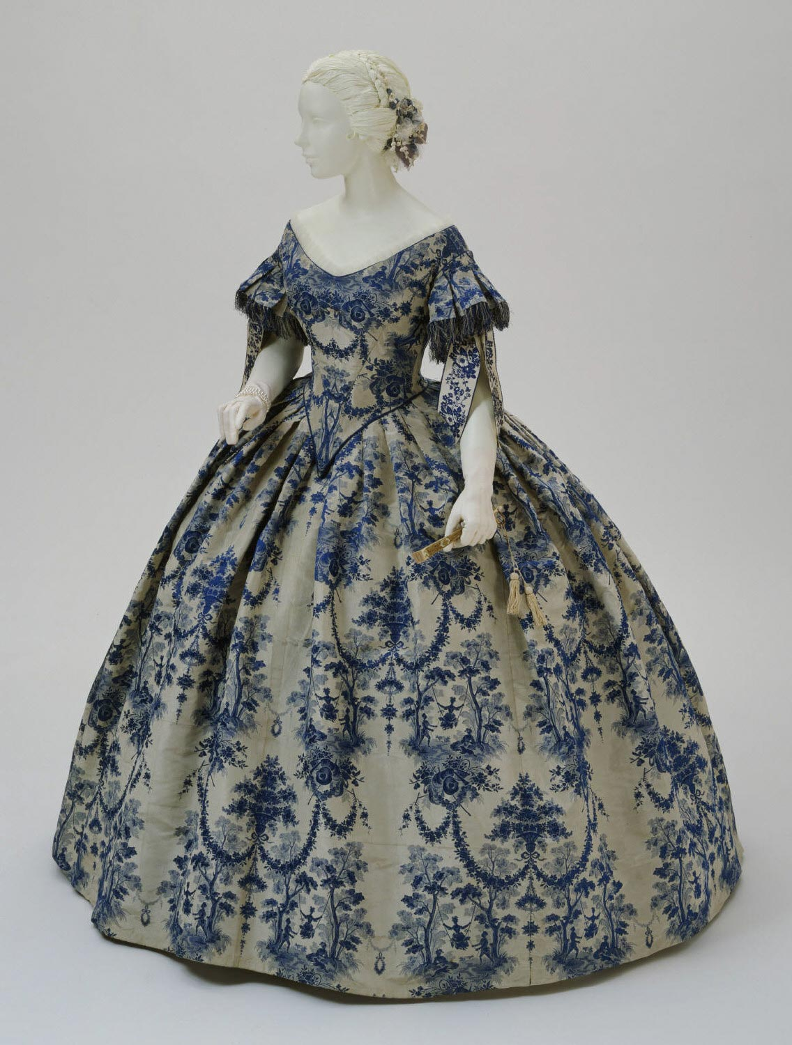 Woman's Evening Dress: Bodice and Skirt