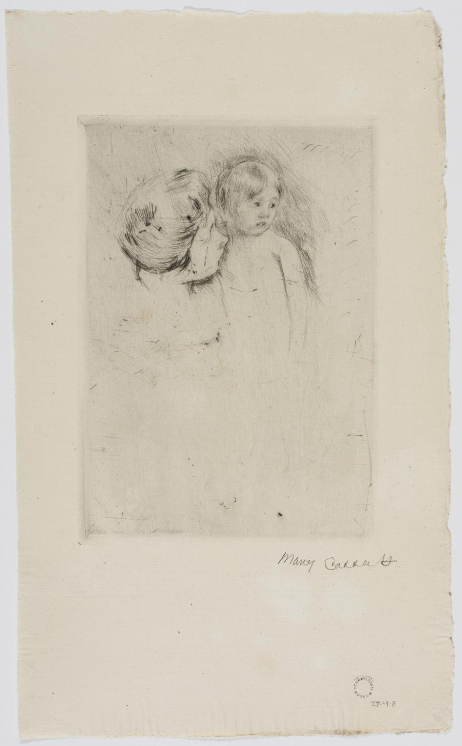 Antoinette Held by Her Mother (No. 2)