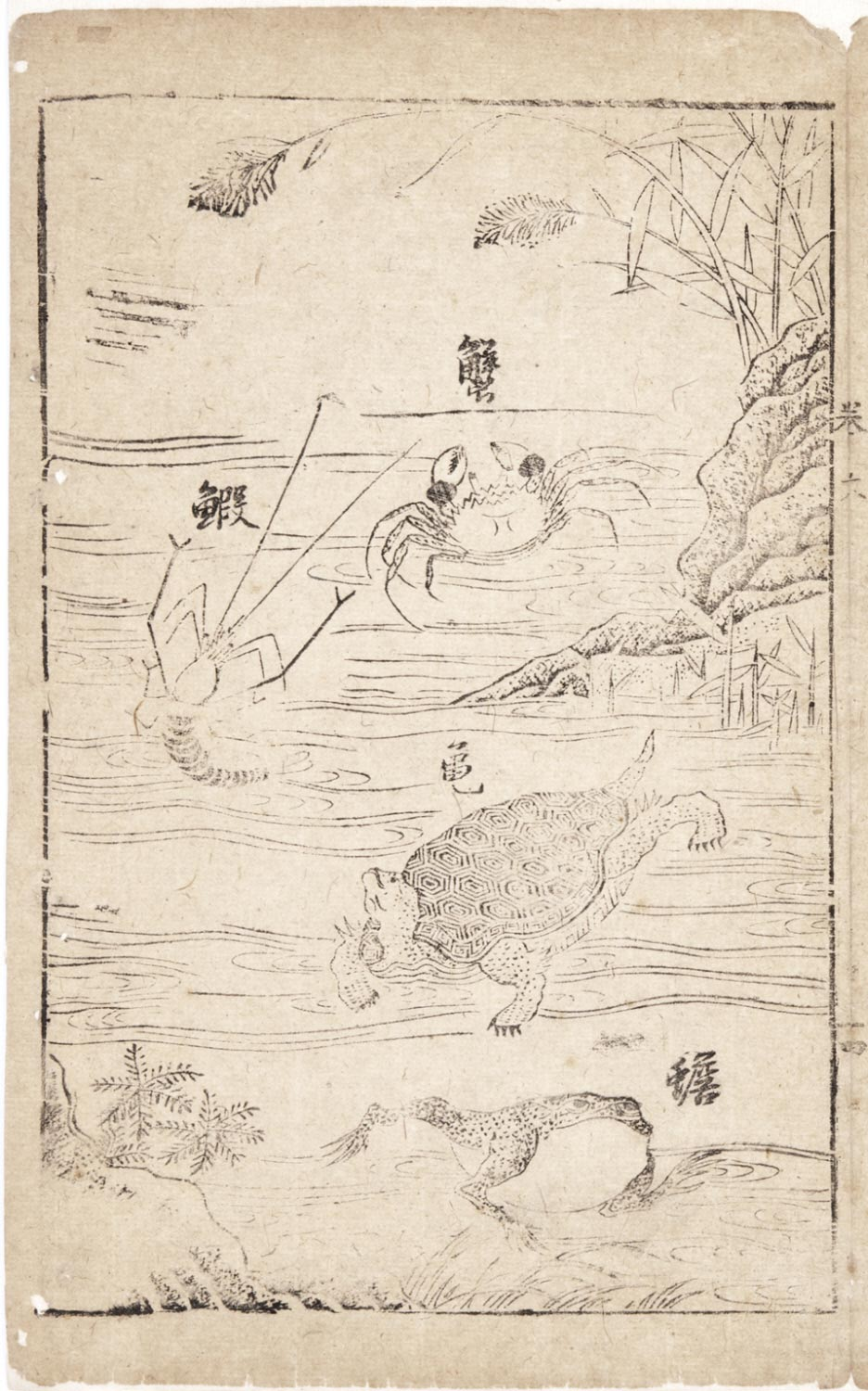 Tuhui zongyi (Principles of Painting): Shrimp, Crab, Turtle and Toad