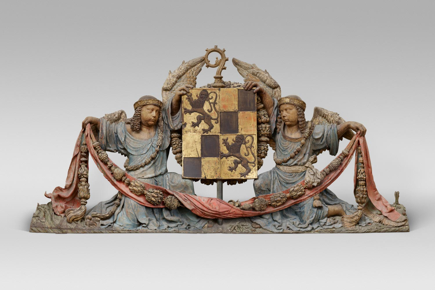 Armorial Shield Supported by Angels