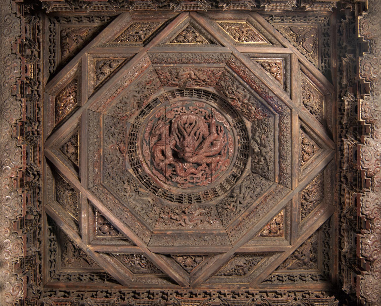 Coffered Ceiling from Zhihuasi (Temple of Transforming Wisdom)