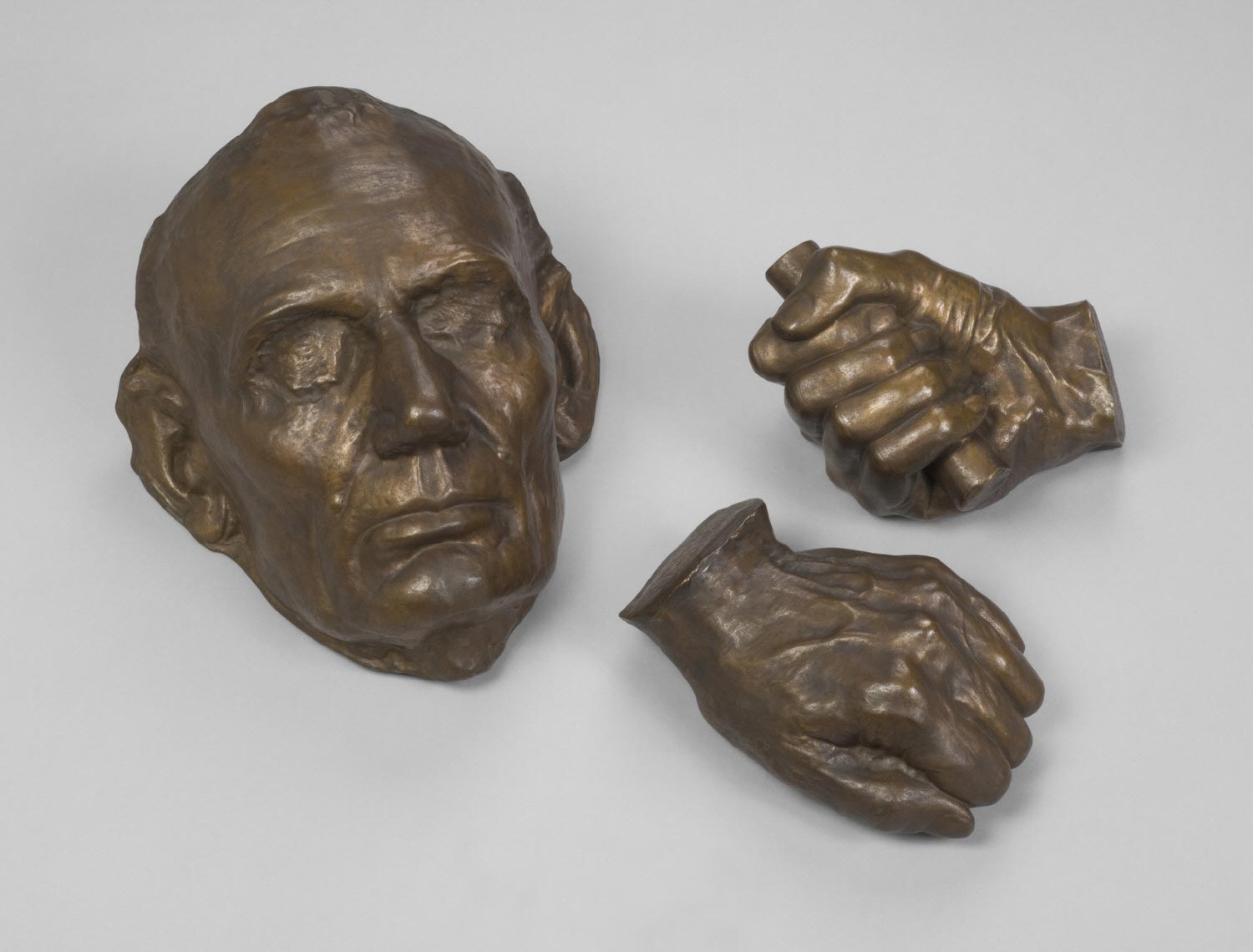 Casts of the Face and Hands of Abraham Lincoln