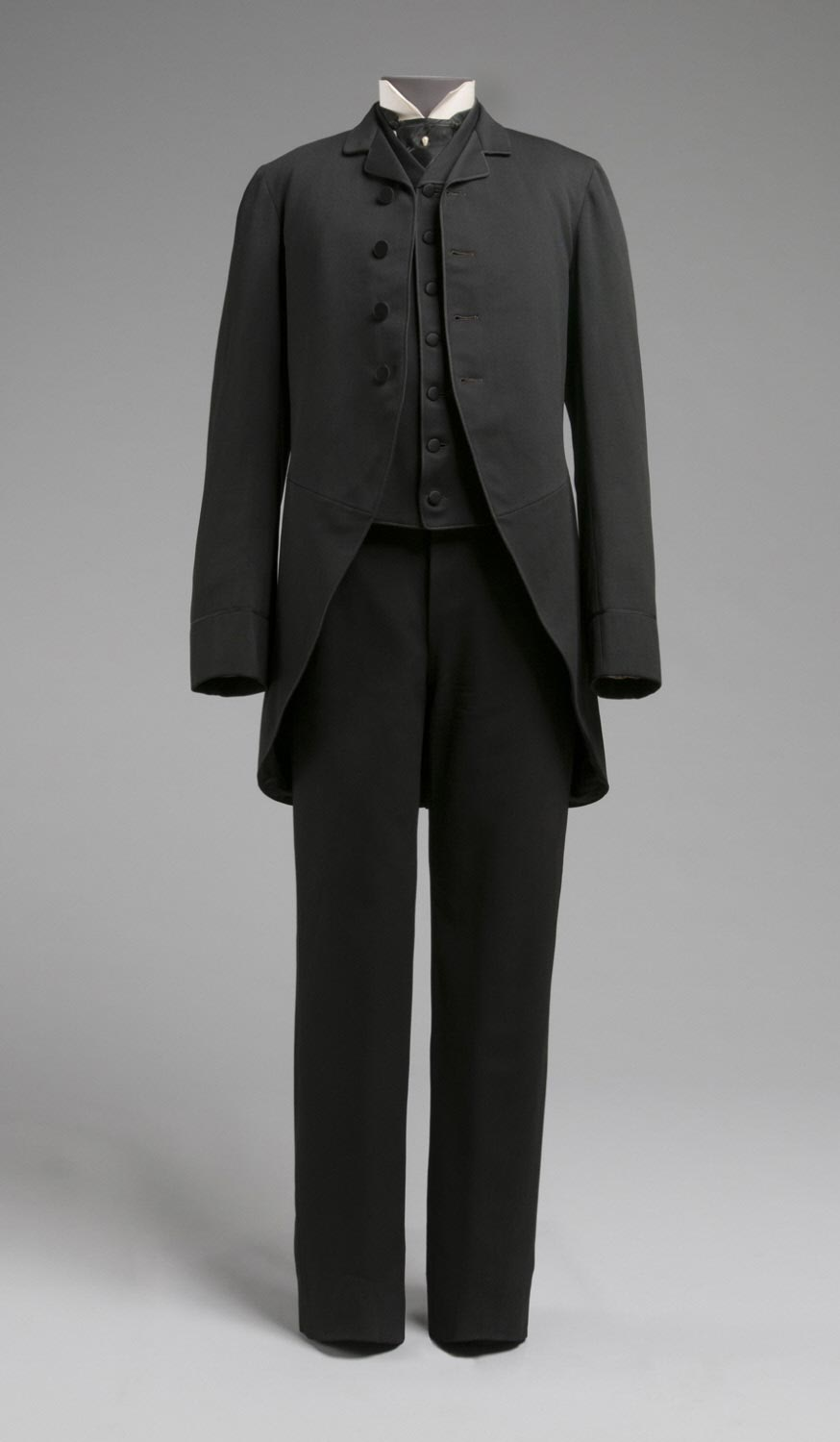 Man's Wedding Suit: Cutaway Coat, Trousers, and Waistcoat