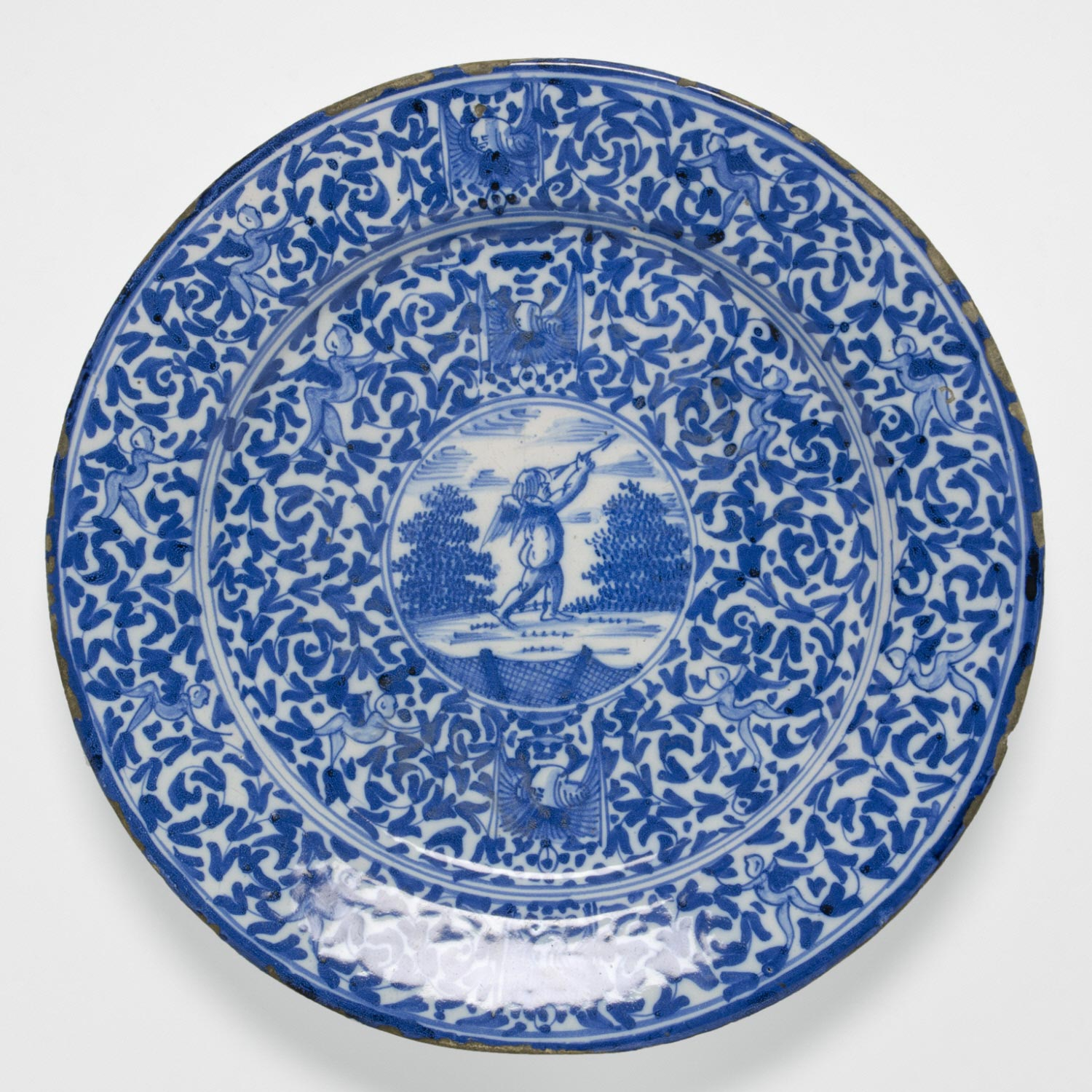 Dish with Grotesques and Putti