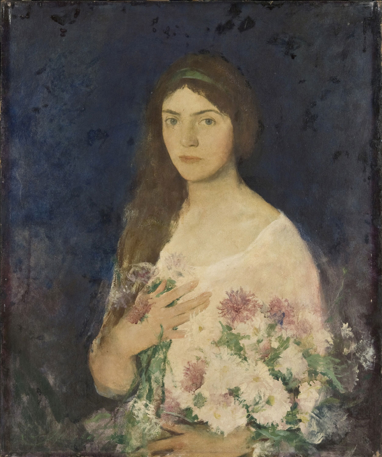 Girl with Asters