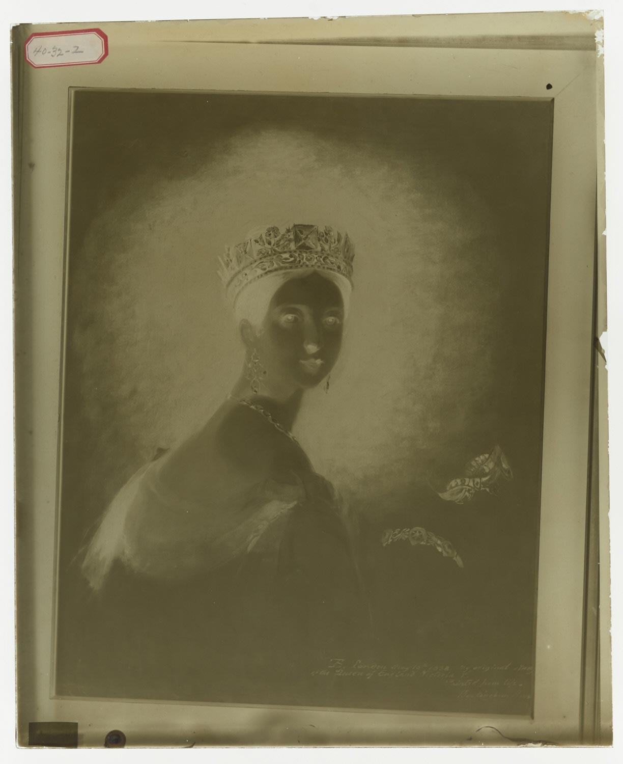 Photographic Plate of Queen Victoria