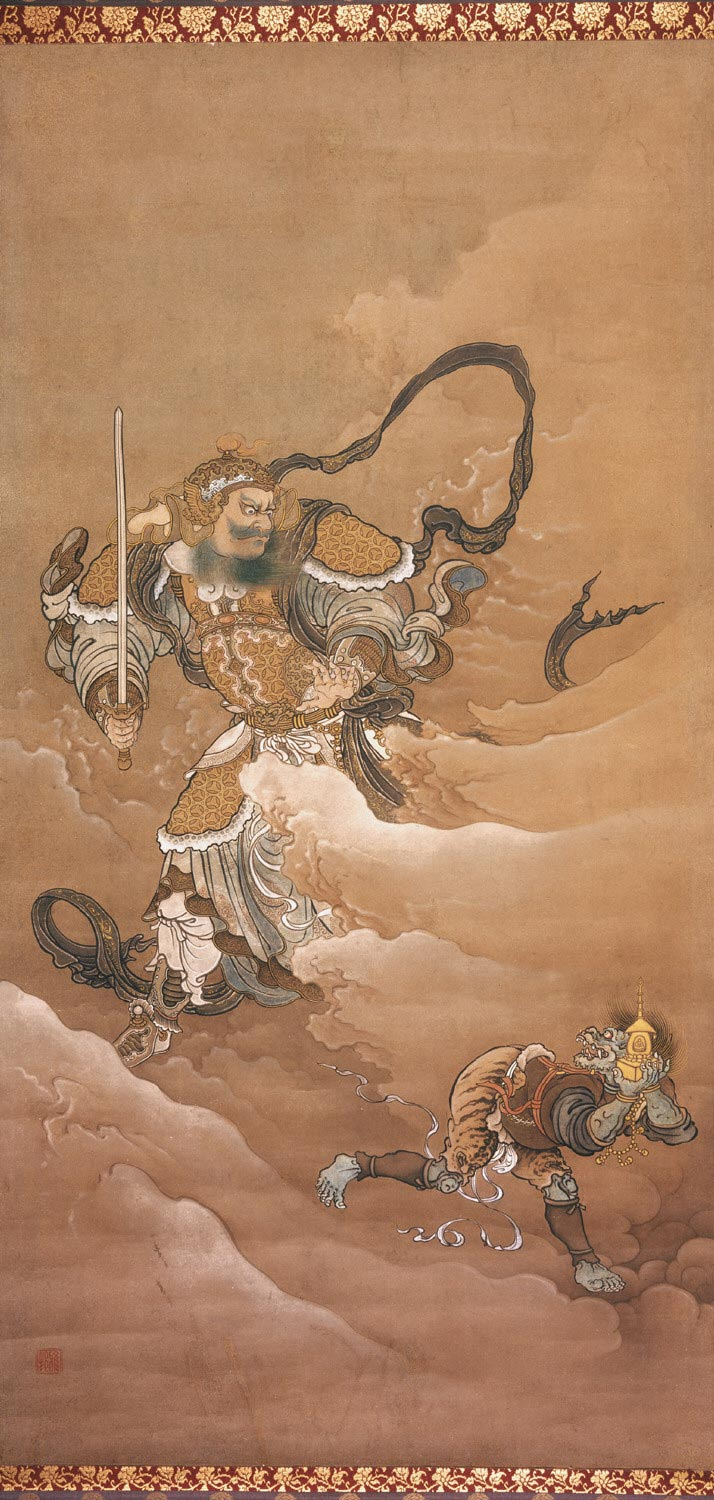 Bishamonten Pursuing an Oni